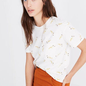 Madewell | Easy Crop Tee in Daisy Sketch